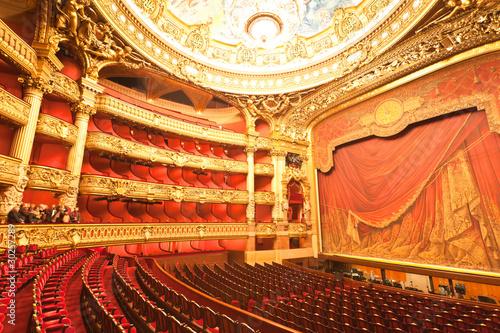 the interior of grand Opera in Paris Fototapeta