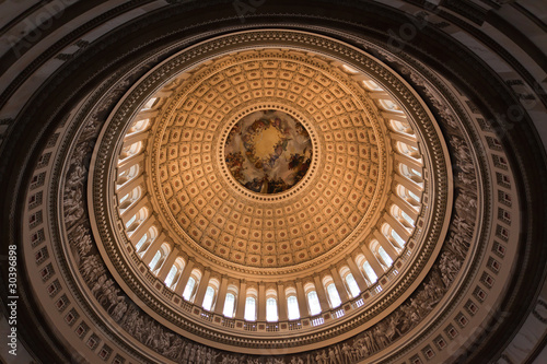 The dome inside of US Capitol Fototapet