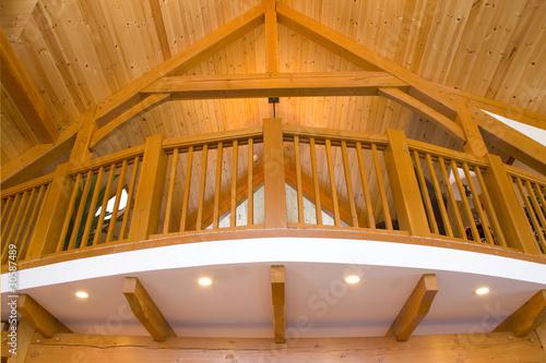 Fotografia, Obraz Timber frame detailing