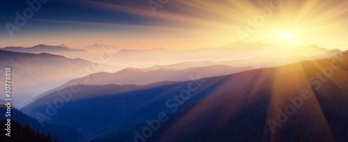 Obraz na plátne mountain landscape