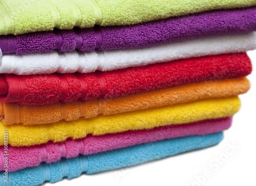 Fotografering serviette de bain toute les couleurs