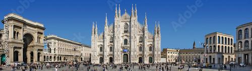 Canvas Print Panorama Piazza del Duomo - Milano