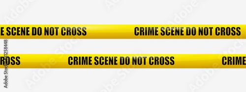 Fotografía Crime Scene Tape. transparency, eps10