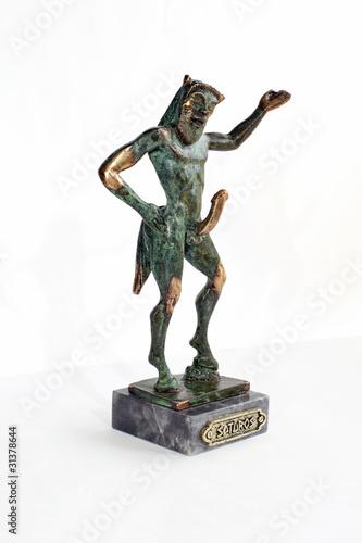 Fototapeta An erotic bronze statue representing a satyr