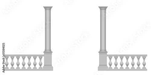 Foto Passage entre colonnes et balustrades