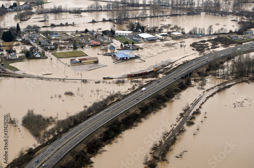 Canvas Print Washington State Flood