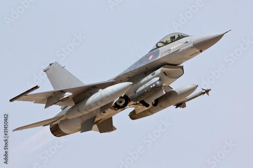 Canvas Print F-16 - Take Off