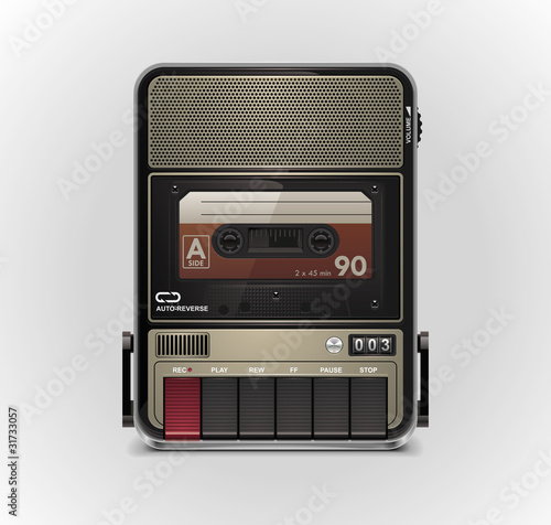 Fotografia Vector cassette recorder XXL icon