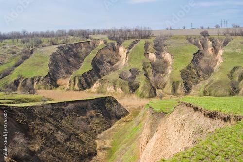 Tablou Canvas Soil erosion in Ukraine.