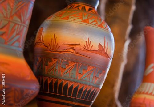 Fotografia Native American Pottery Vase