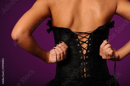 Obraz na płótnie tighten up the corset