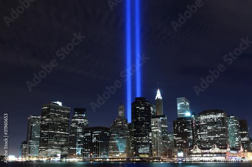 Fototapeta premium Dolny Manhattan i wieże świateł