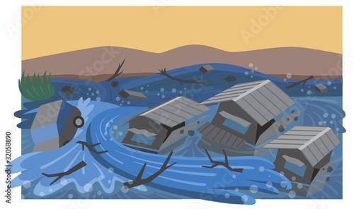 Tablou Canvas 洪水