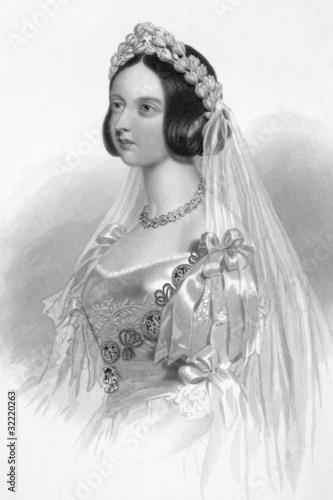 Fotografia Queen Victoria in her Wedding Dress