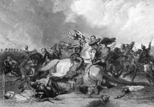 Richard III and the Earl of Richmond at the Battle of Bosworth Fototapete