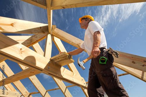 Fotografering construction roofer