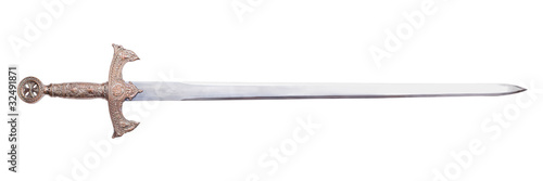 isolated sword