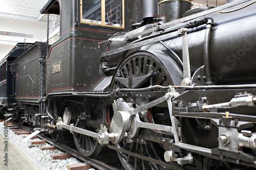 Photo Detail of old steam locomotive
