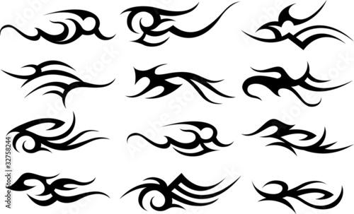 Fotografie, Obraz tribal abstract sign