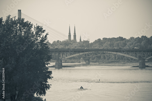 Panorama of Vistula river in Warsaw #32859464
