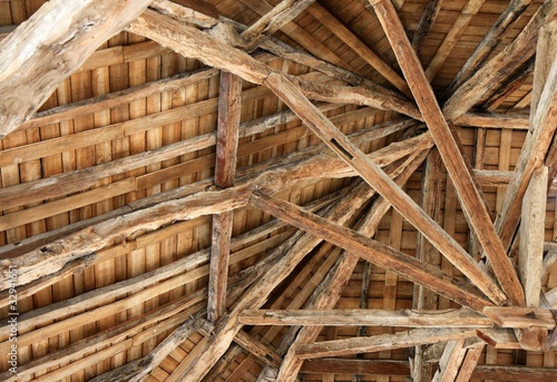Fotografia, Obraz vieille charpente en bois