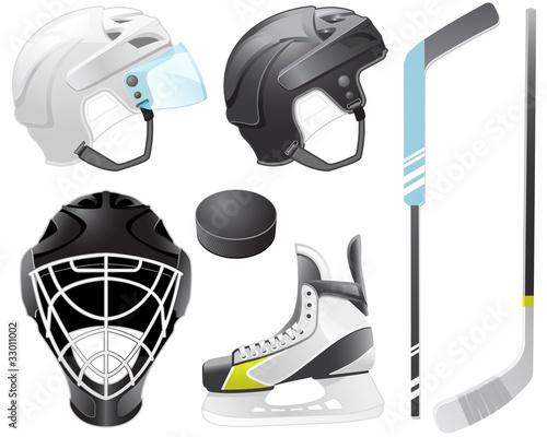 Wallpaper Mural Hockey accessories