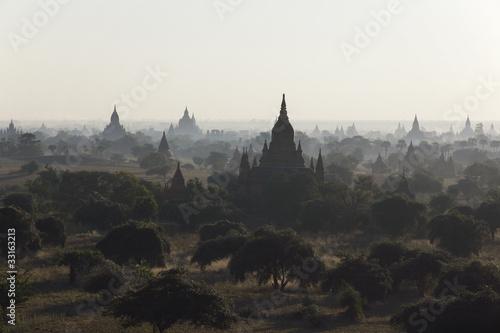 Sunrise over temples of Bagan, Myanmar Fototapete