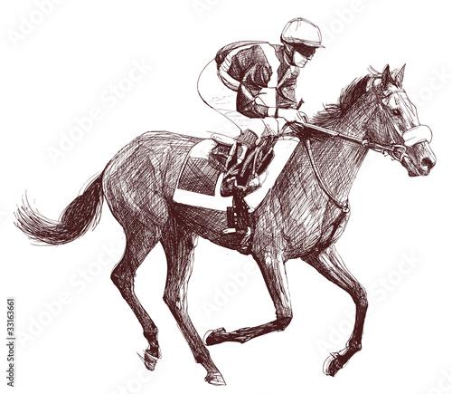 Obraz na płótnie horse and jockey