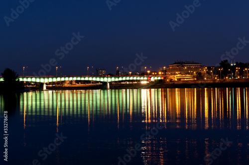 Warsaw panorama during the night #33278678