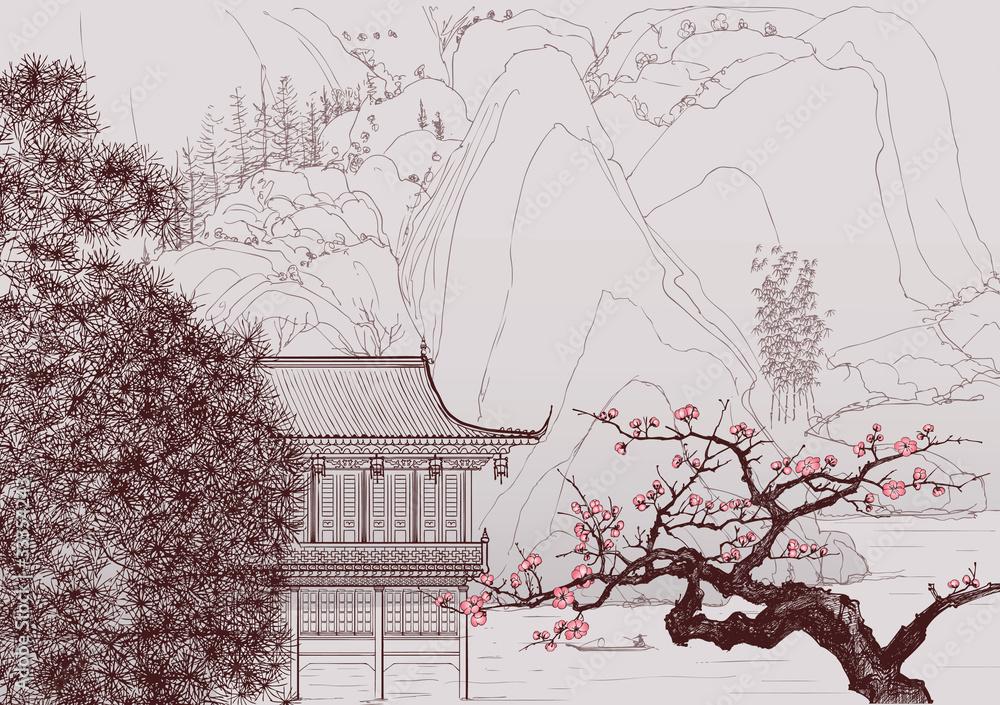 Chiński krajobraz <span>plik: #33354243 | autor: Isaxar</span>