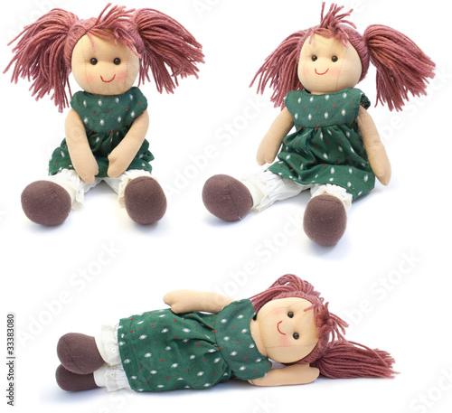 Obraz na płótnie hand made doll. collage