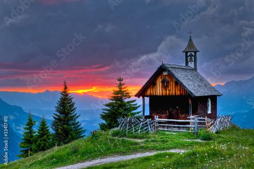 Foto Abendrot in den Bergen