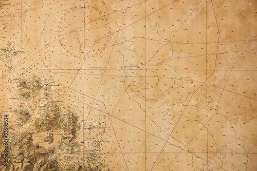 Fotografia Costa Smeralda Carta Nautica