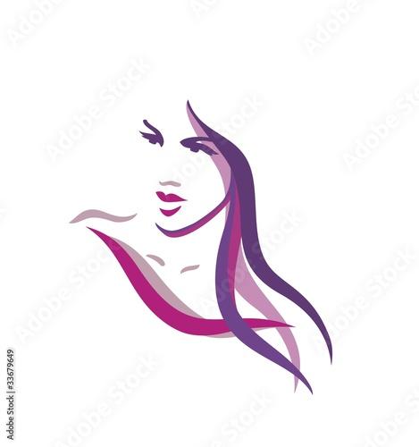 Beautiful woman logo #33679649