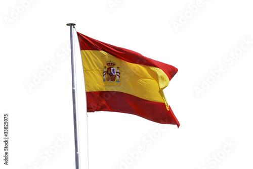 Wallpaper Mural Spain flag waving