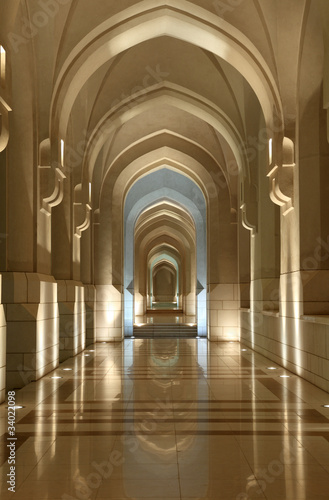 Fotografia Archway at the Sultans Place in Muscat, Oman