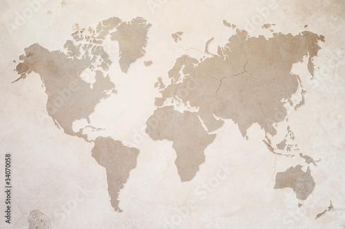 Weltkarte Fototapeta