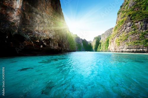 Fotografie, Obraz bay at Phi phi island in Thailand