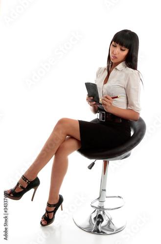 Slika na platnu Businesswoman taking dictation or notes