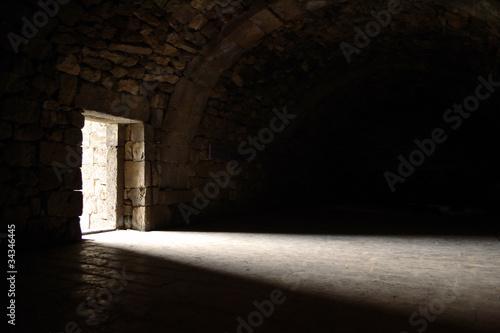Canvas Print Light entering through door