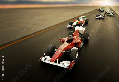 Samochody F1 Fototapeta