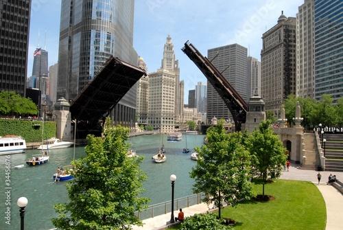 Stampa su Tela Downtown Chicago, Illinois