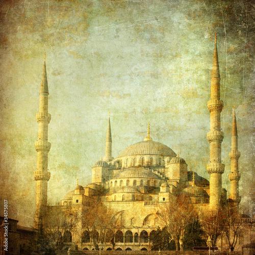 Fotografia Vintage image of Blue Mosque, Istambul