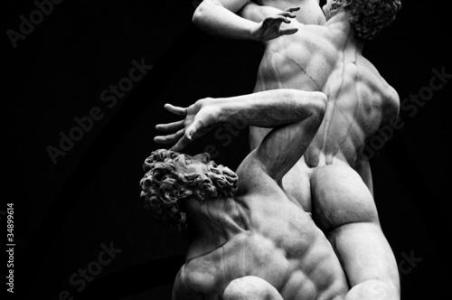 Canvas Print Architecture, Italian statues