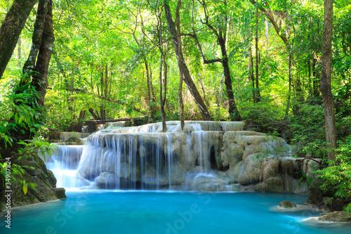 Obraz premium Erawan Wodospad, Kanchanaburi, Tajlandia