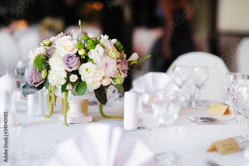 Fotografia Table set for an event party or wedding reception