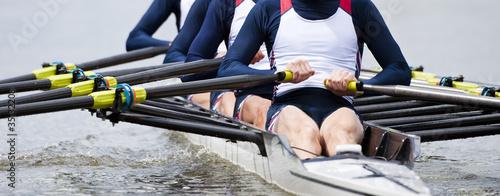 Billede på lærred Rowing team