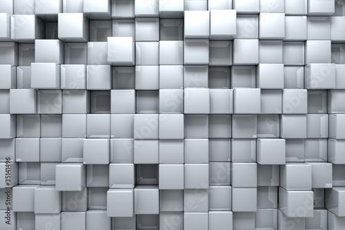 Fototapeta Srebrne pudełka 3D przestrzenna