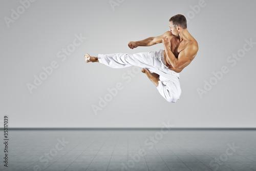 Canvas Print martial arts master