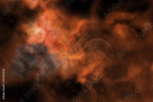 Tablou Canvas Planet in a Firestorm